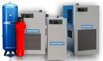 S.A. Air Compressors : Air Filters, Refrigerant Dryers, Air Receivers